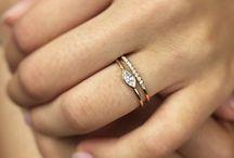 Marquis diamond rings