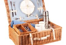 The Epsom Luxury Picnic Hamper - a touch of glamour anywhere / Our Epsom Picnic Hamper embodies those impossibly stylish Art Deco days. Your sense of finesse is shown to the full; the 'Wedgwood' blue and cream makes the crystal wine glasses seem to sparkle just a little more. Take the glamour with you for a truly special picnic. Available in Wedgwood blue in a 2 and 4 person place setting.  Buy online at www.amberleyhampers.com