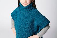 Crochet baby/toddler ponchos