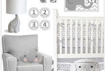 Gray & White Nursery Inspiration / Looking for gender neutral ideas or just want a subtler look in the nursery?  Here are some gray and white nursery ideas to help inspire you!