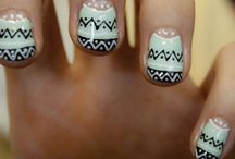 Nail design  / Straight French