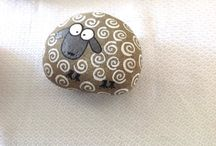 hand painted rock stone
