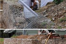 muro contención cabaña