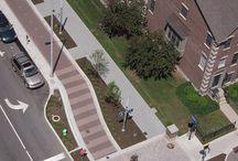 Landscape cycle pedestrian paths