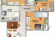 Projetos Casas/Apartamentos / by Domenica Palomaris