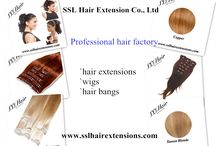 Professional hair extensions, wigs manufactures from China-SSL Hair