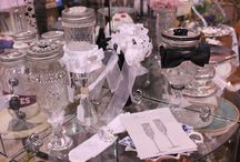 """Carol's Creations / One of a kind Limited Edition gifts...Servers for cakes, candles, jewelry, soaps, his and her """"Toasting"""" goblets."""