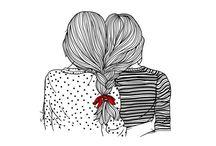 Chicas dibujadas
