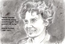 Graphite Quotes / Graphite drawings of people and their quotations.
