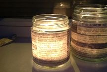 More creative ideas using candles glue and righted paper