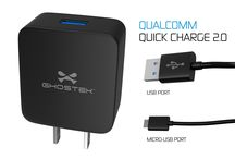 Wall Home QuickCharge 2.0 Rapid High-speed Adapter ! / Ghostek® NRGcharge QuickCharge 2.0 Rapid High-speed Fast Quick Wall Home Charger Adapter With Micro USB Data Charging Cable | Smartphones | Tablets | Samsung Galaxy | Android | LG | Warranty       Qualcomm Quick Charge 2.0 Technology charges phones 75% faster than conventional chargers     44.4mm x 24.2mm x 49.1mm     Compatible with USB and micro-USB for use with almost any phone     Supports 12v/9v/5v voltages
