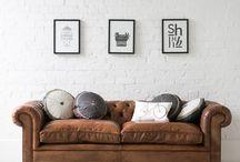 Tan sofas