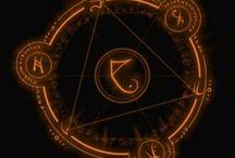 Arcane runes, sigils and circles