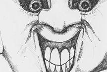 my work Smooth skinned man seducing people into his wet space. #doodle #drawing #sketch #nightmare #halloween