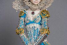 Керамическая куклы