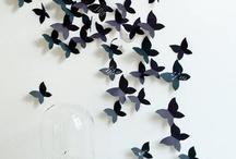 3d motyli na zeď
