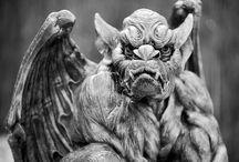Gargoyles / Gargoyles, protector of homes and gardens from evil spirits that would harm the fae folks (fariy).