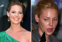 Celebrities with & without makeup