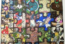 Crafts - Altered Puzzle Pieces / Altered Puzzle Piece Inspiration & Ideas