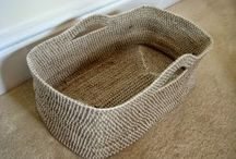 CROCHETED BASKETS / DIFFERENT IDEAS