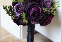 deep purple wedding centerpieces