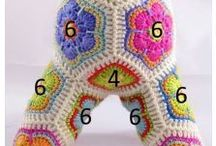 Flores africanas Crochet