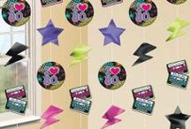80s Party Ideas / Decorations, theme ideas, tableware, banners, posters etc. / by SimplyEighties.com