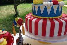 baby boy clown birthday