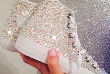 Sapatos de brilho