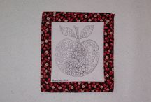 My Zentangle Inspired Art in Cloth / Trunk show for quilt guilds.