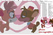 Valentine's Day free cross stitch patterns / Valentine's Day free cross stitch patterns