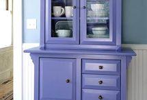Living room blue . Music room purple