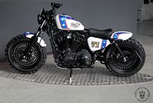 """Sportster Harley """"48 Special Limited Edition n°2 - Captain America"""" by Vida Loca Choppers / Sportster Harley 48 Special Limited Edition n°2 Captain America - Designed by Vida Loca Choppers in 2015"""