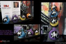 """Boules de Noël - Design By Julie Jaler - Edition Limitée 2014 / Découvrez la toute dernière création de Julie JALER :  LES BOULES DE NOËL - Série """"DARK BALL"""" - EDITION LIMITEE 2014  Passez votre commande dès aujourd'hui, Série Limitée vendue en boite de 3 boules !!!  http://www.alittlemarket.com/accessoires-de-maison/sachet_de_3_boules_de_noel_design_edition_limitee_2014-11223913.html En savoir plus : contact@design-by-jaler.fr http://www.design-by-jaler/"""