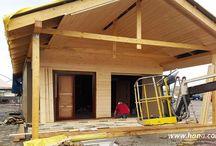 Case in legno, scheletriche, canadesi per autoassemblaggio / Elementi tagliati per la costruzione di abitazioni, consigli per la costruzione di case, montaggio facile. Case con pacchi (mostra casa a Taranto).