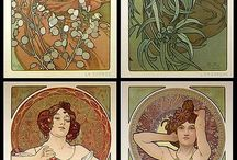 Alfons Mucha /  picture on the glass
