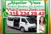 Viaje Expreso= Alquiler Vans, Bogota, Chia / ★ VIAJE EXPRESO, Alquiler Vans Con Conductor, Transporte 16 Pasajeros, Van MERCEDES BENZ, Desde Bogota, Zipaquira, Chia, Cajica, Gachancipa, Tocancipa, Tabio, Tenjo, Cota, Sopo, La Sabana, HASTA Tolima, Boyaca, Meta, Huila y Cundinamarca. ✔  ★ RESPUESTA AL INSTANTE.✔ • Llena Corto Cuestionario En Mi Pagina Web.  ★ VIAJE EXPRESO.✔ • WhatsApp. 3162342942. • ViajeExpreso@gmail.com =