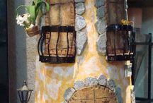 Artesanato - Telhas decoradas / Artesanato em telhas