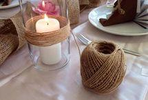 svatební výzdoba stolu
