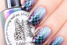 kaleidoscope stamping polish