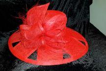 Sinamay hats by Hannelie
