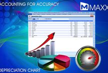Depreciation Chart / Depreciation is a permanent and continuous decrease in the quality and value of an asset. It is a way of MAXX provide this feature to its users to pass the journal entry for depreciation account with a specified depreciation percentage in a click... http://maxxerp.blogspot.in/2013/10/maxx-accounting-for-accuracy.html