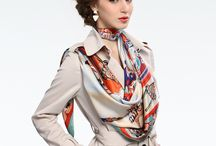 Silk Scarves / New in Silk scarves and different ways of wearing them from your head to your handbag #styleinspiration #silkscarves #scarves #hermesscarves