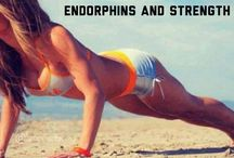 Motivation health and fitness  / Exercising should be about endorphins and strength . Eat clean and train mean. Some of my favorite inspiring quotes and motivation.