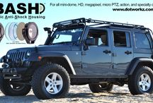 BASH mounted on a 4x4 Jeep / BASH camera housing easily mounts on bumpers, light poles, and roll bars protecting your camera from weather, water, dust, and everything else. www.dotworkz.com/bash