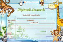 D nepersonalizate gradinita / Diplome scolare nepersonalizate prescolari (de participare, merit si absolvire)