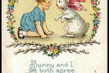 Easter cards (paas kaarten) / Nostalgische paas kaarten