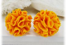 Marigold Flower Jewelry / Handcrafted Marigold flower jewelry collection.