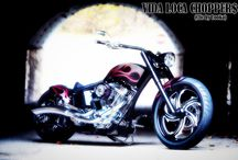 "Softail Harley ""La Muerta"" Designed by Vida Loca Choppers / Softail Harley La Muerta Designed by Vida Loca Choppers in 2014"