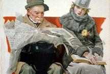 J.C.Leyendecker, Norman Rockwell & perilliset / NR & successors
